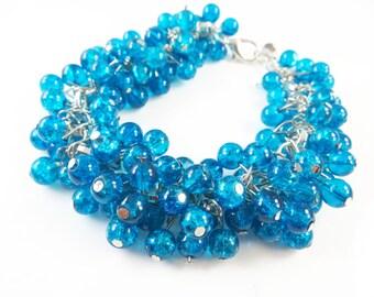 """Blue cha cha bracelet (7 1/2"""" )"""