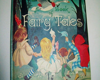 Vintage Dean's A Book of Fairy Tales 1970 Children's Book