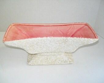 Vintage Royal Windsor Planter Florist Vase Pink White Sponge Ware