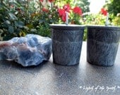 BLACK TOURMALINE Crystal Spell Votives - Palm Wax Votives - Unscented Votives - Pagan Ritual Supplies, Wiccan Ritual Supplies, Altar Candles