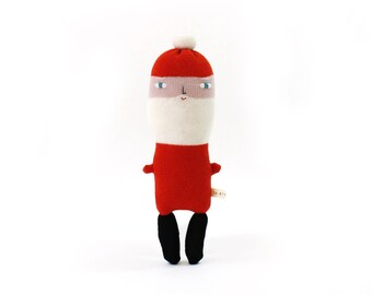 Santa Claus - Christmas toy, soft knitted lambswool toy, baby toy, plush toy