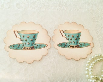 Tea Party Favors and Stickers-Victorian gifts and favors-Kitchen Seals and Labels-Set of 12