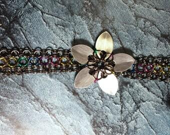 Flower Rainbow Bracelet