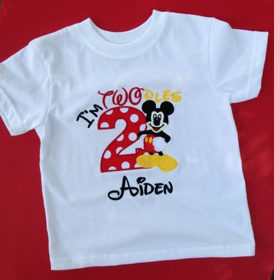 Im Twodles Mickey Mouse 2nd Birthday Shirt Mickey Mouse