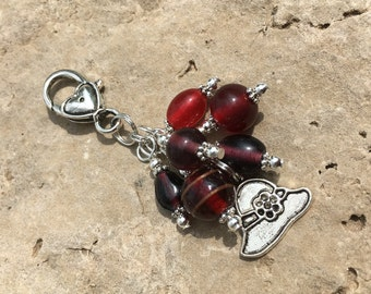 Red Hatter Purse Charm