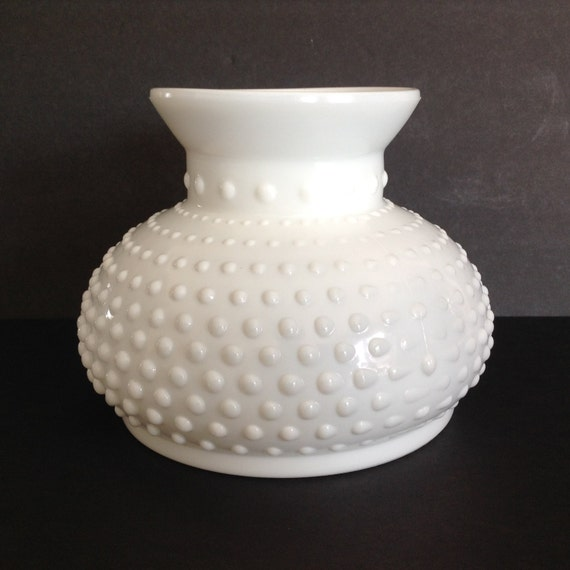 vintage hobnail milk glass globe replacement shade milk