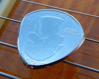 Ergonomic Coin Guitar Pick - You Pick The Year - Lasts Forever