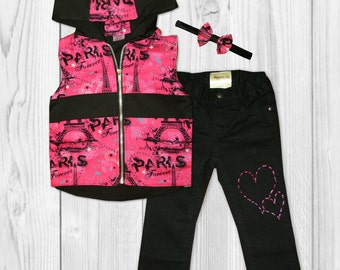 Girls Paris Outfit - Girls Back to School Outfit - Paris Birthday Outfit - Paris Party - First Day of School Outfit - Paris Shirt - Hoodie