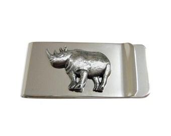 Textured Rhino Money Clip