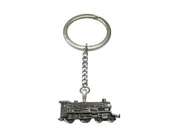 Locomotive Train Pendant Keychain