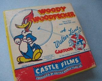 Vintage Walter Lantz Cartoon Woody Woodpecker 8mm Castle Film
