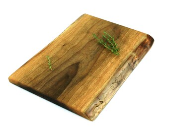 "Natural Edge Cheese Board - Black Walnut - Ready to Ship - 12""x9""x3/4"""