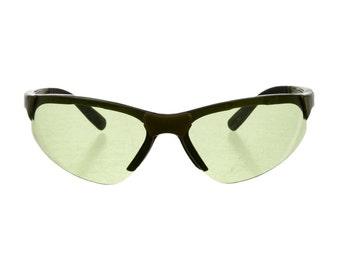 PRADA Sport Futuristic / Sci Fi Green Lens Speed Dealer Avant Garde 90s Vintage Sunglasses - So Rare!