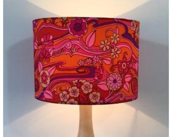 Vintage Jonelle  Water Music Fabric Lampshade Pink Orange Shade