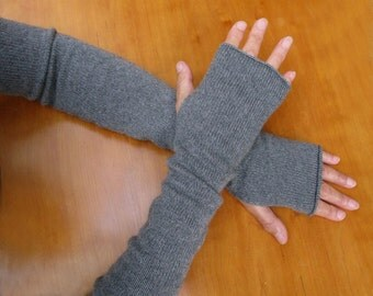Extra long 4 ply cashmere/silk arm warmers