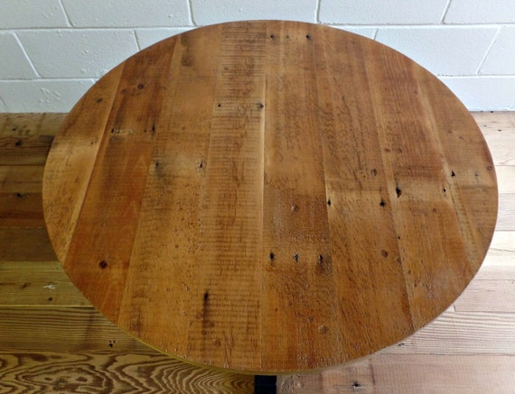 Reclaimed wood table top 36 inch round table top - Inch round wood table top ...