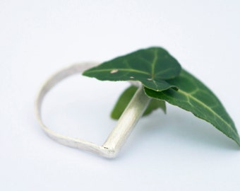 silver ring/eco-silver ring/collector ring/recycled silver ring
