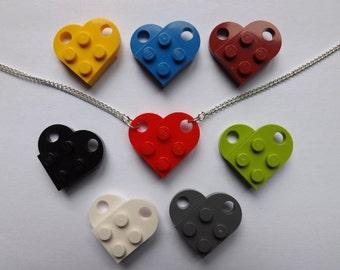 Lego Heart Necklace (Brick Clasp)