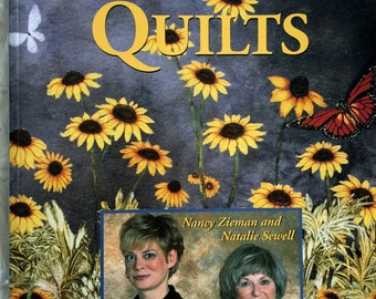 Landscape Quilts by Nancy zieman and Natalie Sewell Leisure Art Quilt Pattern Book Quilting