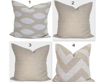 TAN PILLOWS, Soft yet Burlap Look Pillow Cover,Black Decorative Pillow, Tan Black Throw Pillow, Accent Pillow, Pillow Covers, Cushion,Pillow