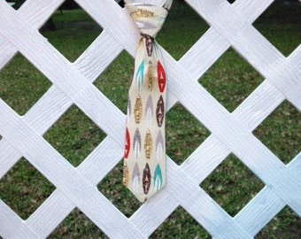 BOYS NECKTIE- Surf's Up! Baby, toddler, boys - many fabric options- sizes 6mo-8