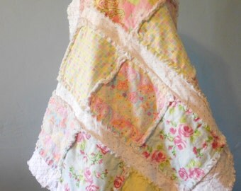 """Baby Blanket, Rag Quilt, Baby Girl, Pink Baby Blanket, Rag Blanket, Baby Quilt, Handmade Blanket, Handmade Quilt, Infant Quilt, 33"""" x 39"""""""