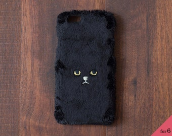 Cat iPhone Cover for iPhone6 / 6s [hard type] Brack