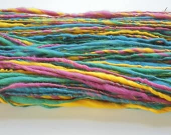 ESSENCE OF SPRING - Dimensional Art Yarn from dk Weight to Super Bulky - 120 yards & 3.6 ounces - Handspun Yarn - Merino Yarn