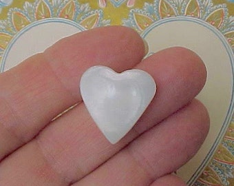 Vintage Carved Mother-of-Pearl Heart Shaped Button