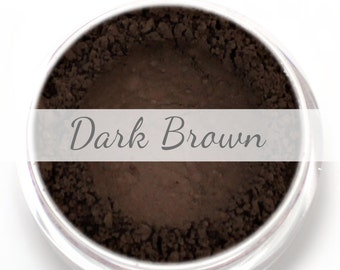 Dark Brown Eyebrow Powder Sample - Vegan Mineral Eye Brow Powder Brunette Net Wt .4g Mineral Makeup Pigment