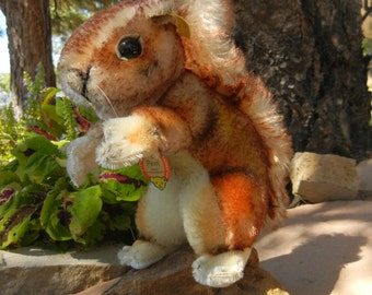 Steiff Vintage Squirrel Perri Eichhoernchen ALL IDs #4322,03 Handmade German Toy Collectible Fall Decoration