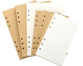 Refills Paper 6 Hole Refills For Journal Notebook Memo Book Blank and Lined Craft Paper White Paper For A5 A6 6 Ring Binder