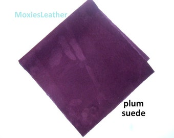plum suede genuine suede - moxies leather - wholesale leather -plum suede piece - plum suede skins