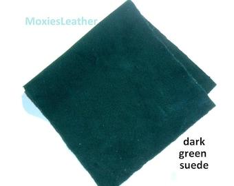 suede scraps purple -lilac suede leather piece- burgundy suede - dark green suede scrap
