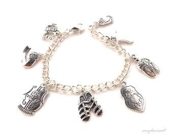 Christian Jewelry, Full Armor Of God Charm Bracelet, Ephesians 6 Jewelry, Letter Charm Option, Scripture Bracelet, Bible Jewelry