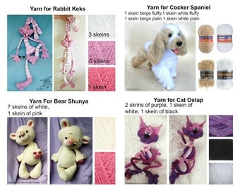 Read description first Buy yarn for making toys from our LittleOwlsHutRUSSIAN shop on Etsy