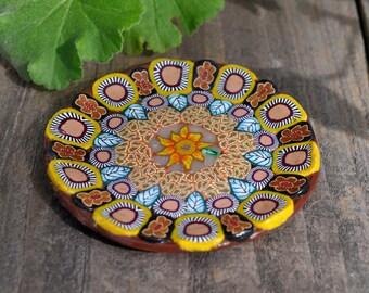 Sunflower Ring Dish, Candy Dish, Keys Holder, Votive Holder