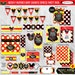 Mickey Mouse Baby Shower Decorations   Printable Party Package   Red Yellow Black   Invitation and Games Available   INSTANT DOWNLOAD