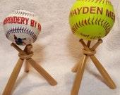 Baseballs and Softballs Display Bat Stands Made out of wood