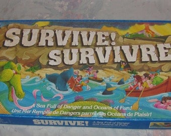 Vintage 1982 Parker Brothers Survive! Board Game Complete Oceans of Fun