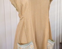 Vintage fabric dress floursack summer festive
