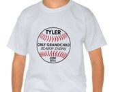 Only Grandchild Big Cousin New Baby Baseball Season Ending Personalized Pregnancy Announcement T-Shirt : FREE SHIPPING