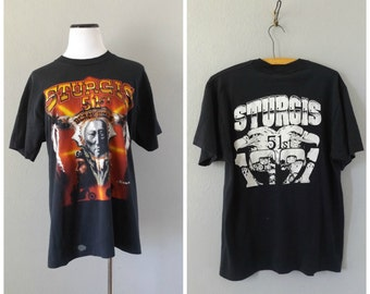 Biker Rally 90s T Shirt Sturgis Motorcycle Tee Vintage 90s Native American Eagle Shirt Large Mens Womens Moto T-shirt 1990s Hipster Grunge