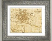 MAP of BELFAST Ireland in a Vintage Grunge Weathered Antique style