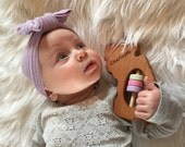 NEW JERSEY State Baby Rattle™ - Modern Wooden Baby Toy - Organic and Natural