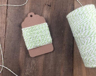 10 yards Green and White Stripe Divine Twine Baker's Twine