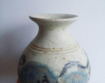 Danish Vintage Retro Vase 1970's Pottery Ceramic Ceramics