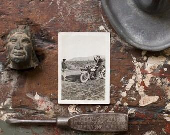 Vintage Photograph / 1940's / Original Harley Davidson Photo / Vintage Harley Collectible