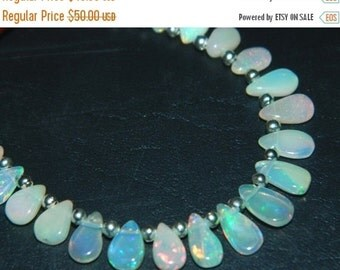 20%off. 20 Percentoff. AAA Ethiopian Opal Smooth Pear Briolettes -Great Quality-Opal Beads-Size 5-9mm Approx