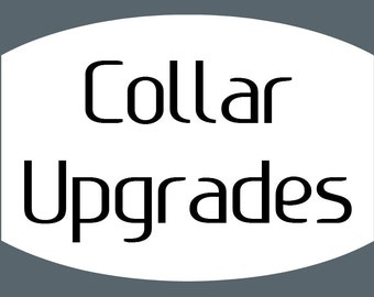 Dog Collar Upgrades - This listing must be purchased with your collar to upgrade options